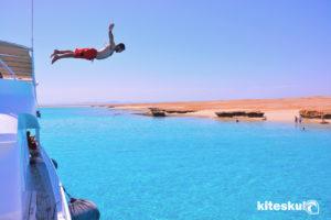 Kajtanje v Egiptu Tawila island