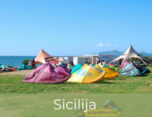 Kitesurfing na Siciliji