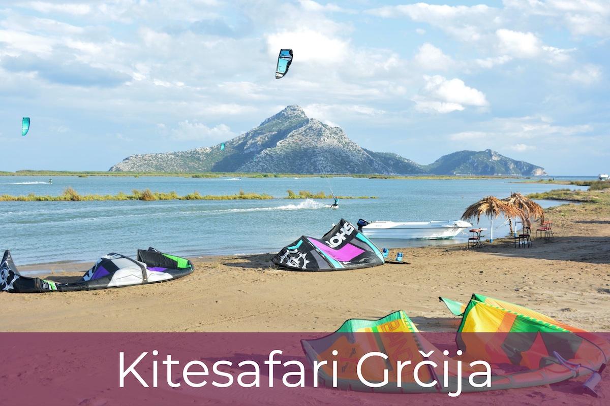 Kitesafari Grčija